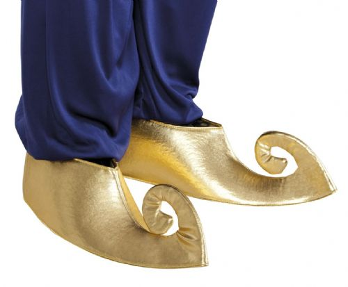 Adult Sultan Shoe Covers for Mens Genie Aladdin Arabian Fancy Dress Costume M/L Size